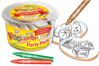 Blocks & Bear Cookie Coloring Party Pack