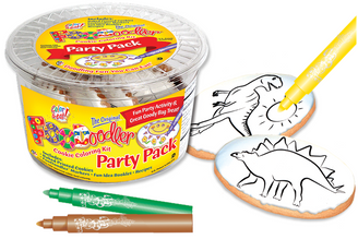 Stegosaurus & T-Rex Cookie Coloring Party Pack