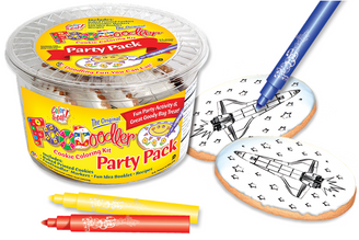 Spaceship Cookie Coloring Party Pack