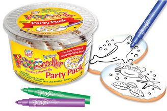 Sea Floor & Dolphin Cookie Coloring Party Pack