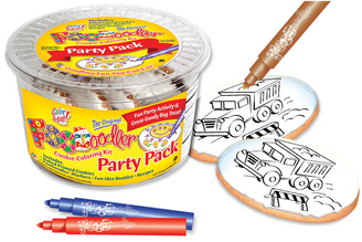 Truck Cookie Coloring Party Pack