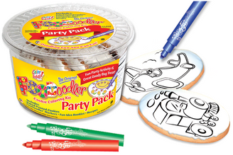 Airplane & Train Cookie Coloring Party Pack
