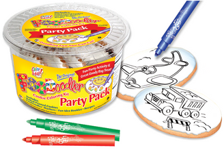 Airplane & Truck Cookie Coloring Party Pack
