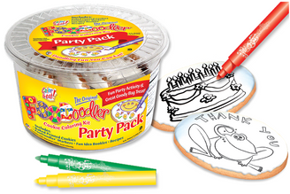 Thank You Frog &Cake Cookie Coloring Party Pack
