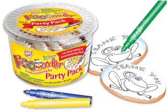 Thank You Frog Cookie Coloring Party Pack