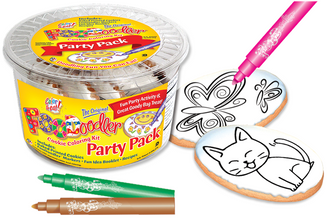 Cat & Butterfly Cookie Coloring Party Pack