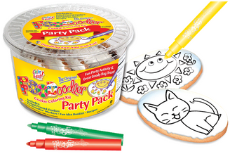 Cat & Sun Cookie Coloring Party Pack