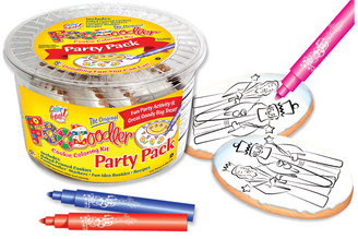 King & Queen Cookie Coloring Party Pack