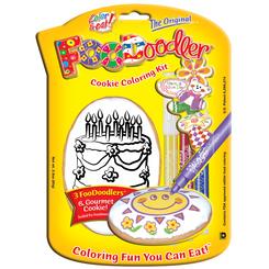 Birthday Crafts - Cookie Coloring Kits - FooDoodler
