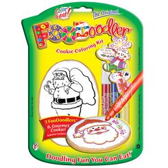 Santa Cookie Coloring Kit