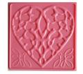 Creaticca Texture Plate 100x100mm – Dot Heart