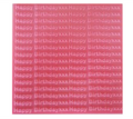 Creaticca Texture Plate 100x100mm – Happy Birthday