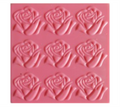 Creaticca Texture Plate 100x100mm – Roses