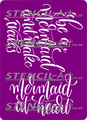 Stencil - Mermaid Quotes