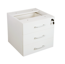 Vibe Economy Fixed 3 Drawer Pedestal