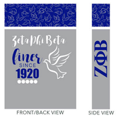 Gift Bag:  Zeta Phi Beta  Medium  Gift Bag ( SOLD  IN SETS OF 2 )
