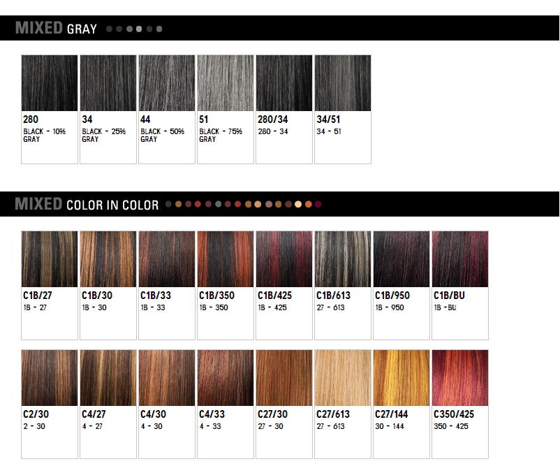 WigExtensionSale Web Pages: Outre Color Chart - photo #14