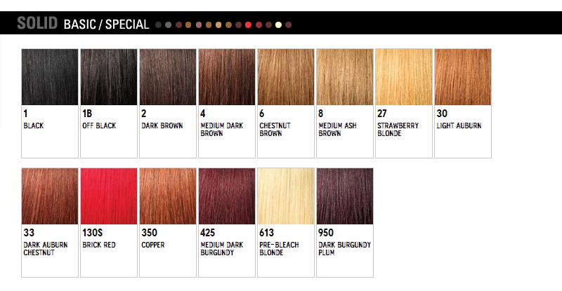 WigExtensionSale Web Pages: Outre Color Chart