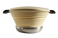 The 2 quart collapsable cook pot shown in Sand.