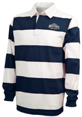 MSM WOMEN Rugby Stripe Polo, Navy/White