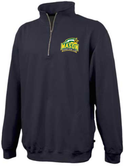 George Mason Women 1/4-Zip Fleece, Black