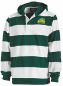 George Mason Women Rugby Stripe Hoodie