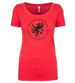 Chicago Griffins Ladies Scoop Neck Tee, Vintage Red