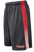 Desales Rugby Gym Shorts, Graphite/Red