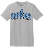 Hopkins Women's Rugby Tee, Sport Gray