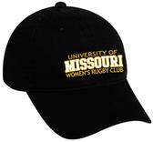 Mizzou Women Twill Adjustable Hat, Black