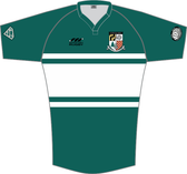 SLOB Rugby Supporter Cut Jersey, Green/White