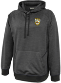 Rochester Aardvarks Performance Fleece Hoodie, Graphite/Black