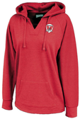 Loudoun Rugby Ladies-Cut Hoodie, Heathered Red