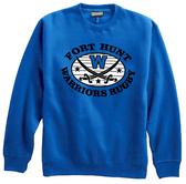 Warriors Crewneck Fleece, Royal Blue