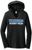 Warriors Rugby Mom Ladies-Cut LS Triblend Hoodie