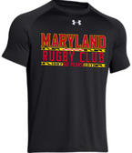 Maryland Rugby Club 50 Years UA Locker Tee, Black