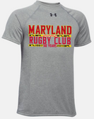 Maryland Rugby Club 50 Years UA Locker Tee, Gray Heather