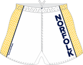 Norfolk Storm Custom Performance Rugby Shorts, White