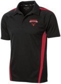 Coventry Colorblock Performance Polo, Black/Red