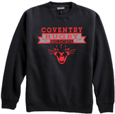 Coventry Rugby Wildcats Crewneck Fleece, Black
