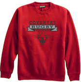 Coventry Rugby Wildcats Crewneck Fleece, Red