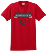 Coventry Rugby Wildcats Cotton Tee, Red