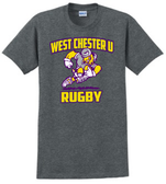 West Chester Rugby Cotton Tee, Dark Heathered Gray