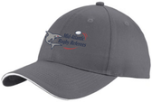 Mid-Atlantic Rugby Referees Twill Adjustable Hat, Charcoal/White