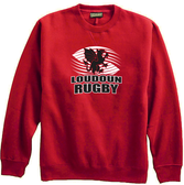 Loudoun Rugby Crewneck Fleece, Red
