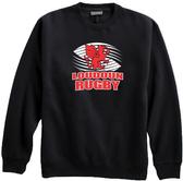 Loudoun Rugby Crewneck Fleece, Black
