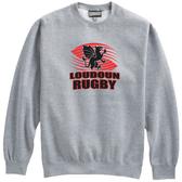 Loudoun Rugby Crewneck Fleece, Gray