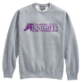 Charm City Knights Crewneck Fleece, Gray