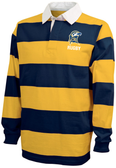 St. Mary's College of MD Rugby Stripe Polo, Navy/Gold