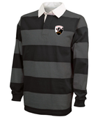 Rochester Colonials Stripe Polo, Black/Gray